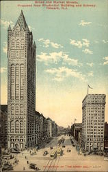 Broad and Market Streets, Proposed New Prudential Building and Subway