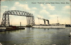"Steamer ""Northwest"" entering Duluth Harbor"