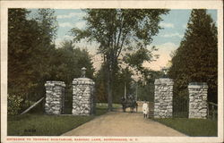 Entrance to Trudeau Sanitarium