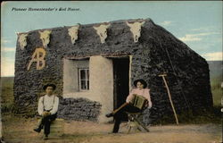 Pioneer Homesteader's Sod House