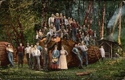 Leisure Hour in a Western Logging Camp