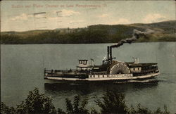 Boston and Maine Steamer on Lake Memphremagog