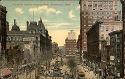 Fountain Square looking East Postcard
