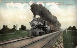 Canadian Pacific Railway Train, Imperial Limited, Trans-Continental Express Montreal to Vancouver