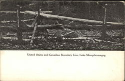 US and Canadian Boundary Line