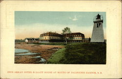 Inch Arran Hotel & Light House at Mouth of Dalhousie Harbor