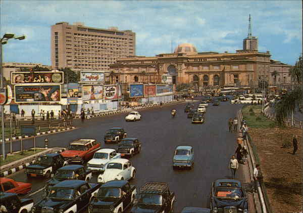 El Tahrir Square and the Egyptian Museum Cairo Africa