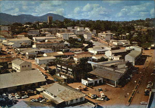 View of Centre of Town Yaounde Cameroon Africa