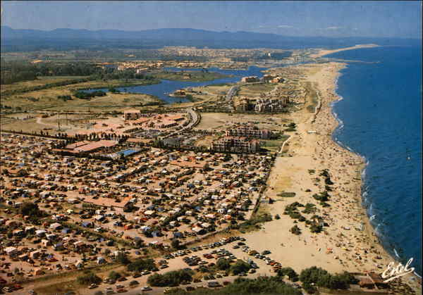 Aerial View of Beach Saint-Cyprien-Plage France