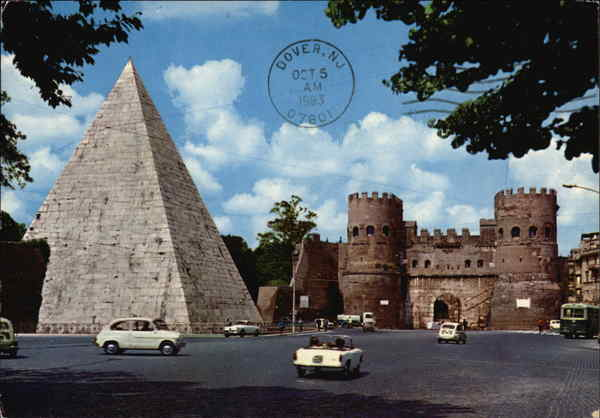Pyramid of Cauis Cestis Rome Italy