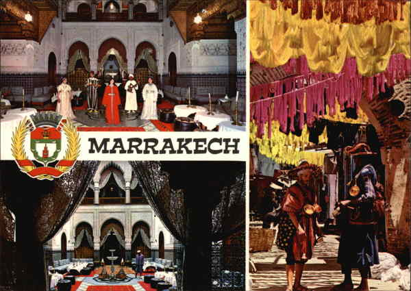 El Gharnatta Restaurant and The Market of the Dyers Marrakech Morocco