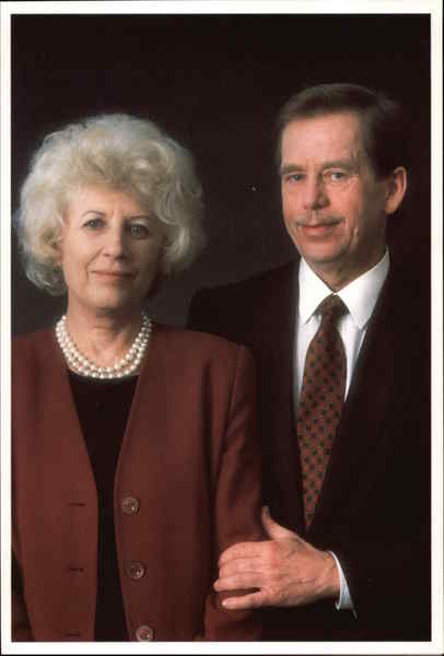 President of the Czech Republic Vaclav Havel and Wife Olgou