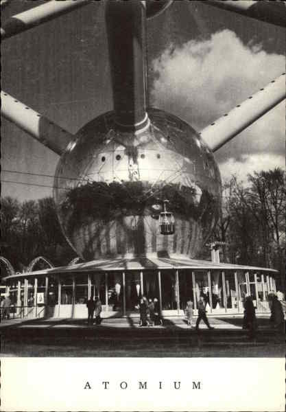 Atomium - Lower Sphere and Reception Hall Brussels Belgium