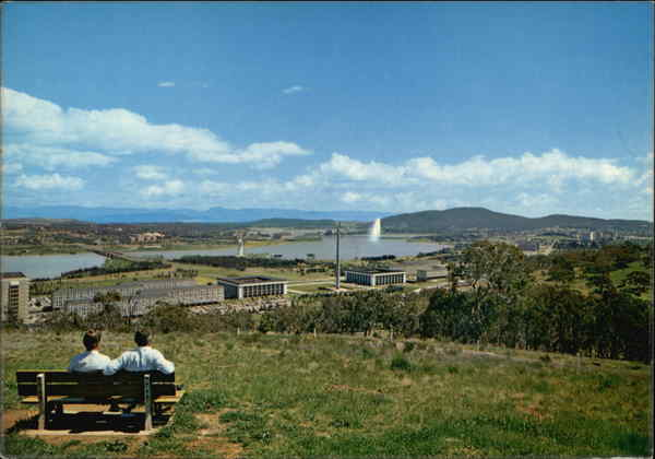 View Overlooking the City Canberra Australia