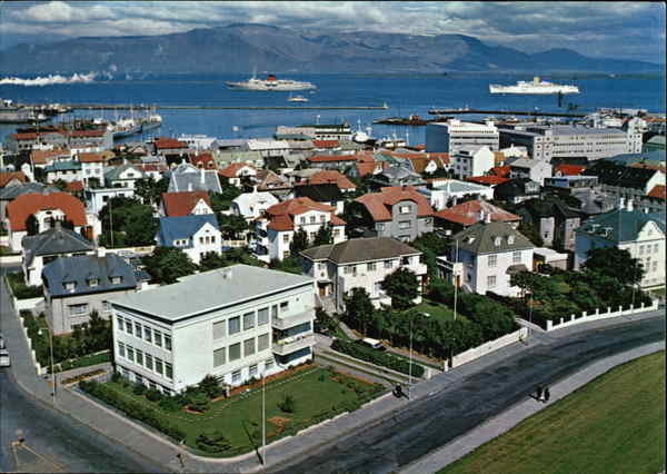View of City and Coast Reykjavik Iceland