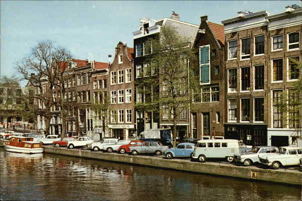 The Princes Canal and Anne Frank House Amsterdam Netherlands