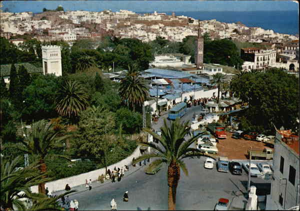 Partial View of City Tangier Morocco Africa