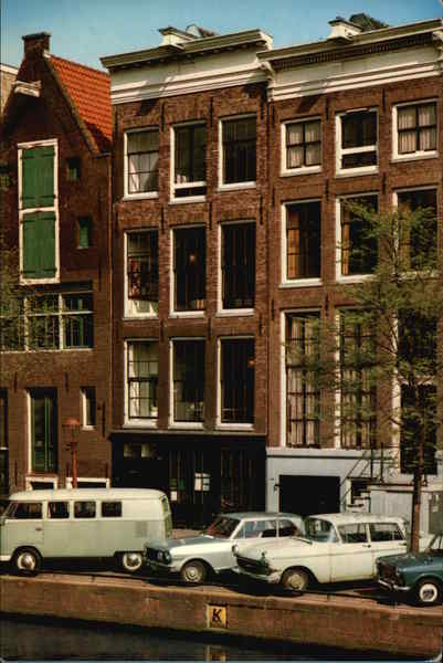 The Prinsengracht with Anne Frank's House Amsterdam The Netherlands