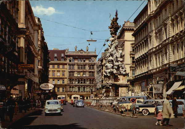 Looking Up the Graben, with Pestilence Column on the Right Vienna Austria