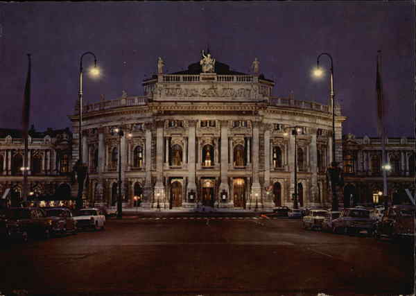 The Old Imperial Theatre by Night Vienna Austria