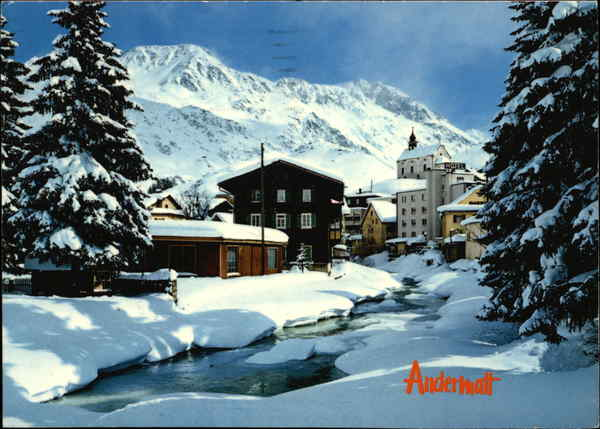 View of Andermatt Switzerland