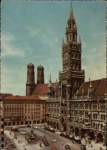 Church of Our Lady and Town Hall Munich Germany