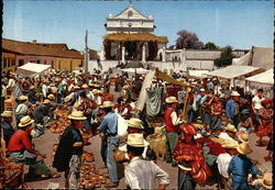 Market With Indians of Chichicastenango