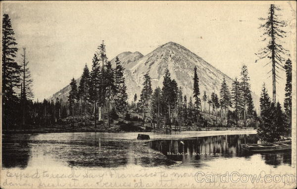 View of Lake and Black Butte Volcano California