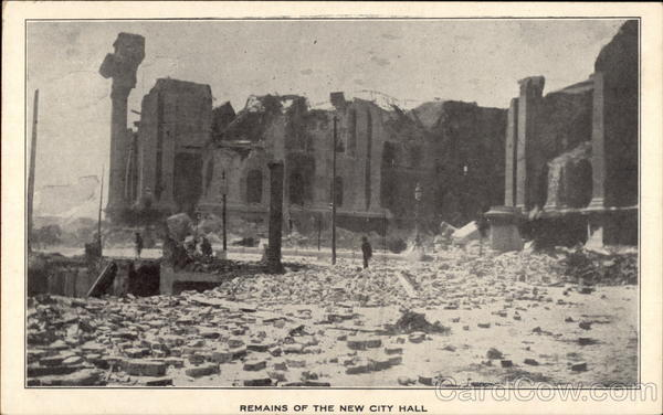 Remains of the New City Hall after Earthquake San Francisco California