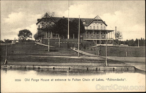 Old Forge House at Entrance to Fulton Chain of Lakes New York