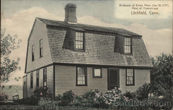Birthplace of Ethan Allen Litchfield Connecticut