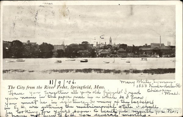 City from the River Front Springfield Massachusetts