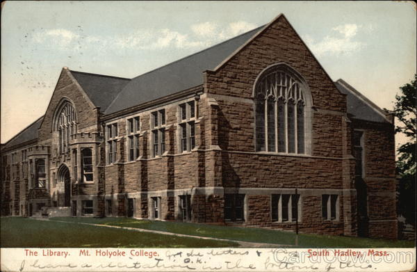 The Library, Mt. Holyoke College South Hadley Massachusetts