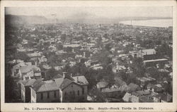 Panoramic View of Town, South - Stock Yards in Distance