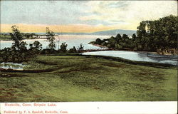View of Snipsic Lake Postcard