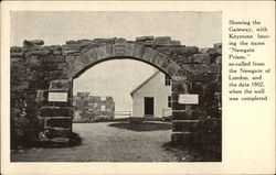 Showing the Gateway of Newgate Prison