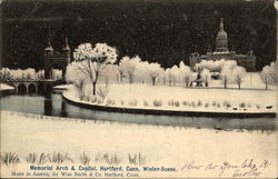 Memorial Arch & Capitol in Winter