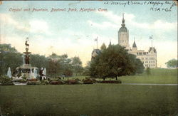 Capitol and Fountain, Bushnell Park