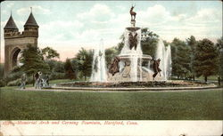 Memorial Arch and Corning Fountain