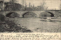 Norwalk River and New Canaan Bridge