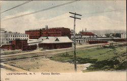 Factory Section of City Postcard
