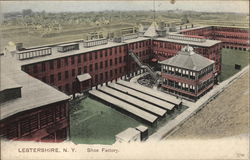 Aerial View of Shoe Factory Postcard