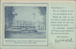 Main Building of the Practical Bible Training school Postcard