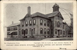 Deposit High School Building, Corner Center and Second Streets