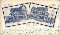North & West Side Views of Residence of J.J. Bell