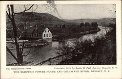 Electric Power House and Delaware River