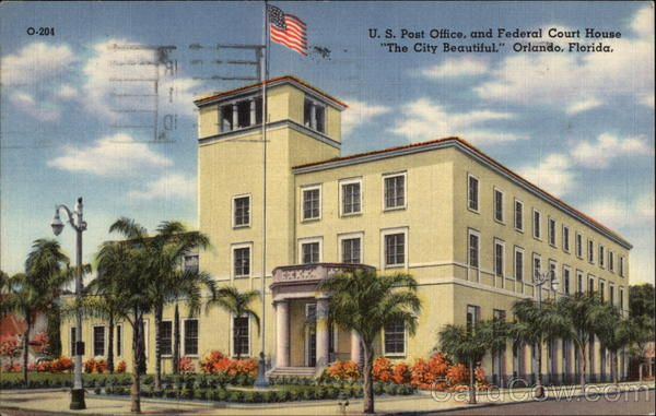 US Post Office, and Federal Court House Orlando Florida