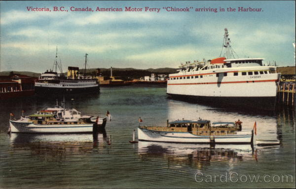 American Motor Ferry Chinook arriving in the Harbor Victoria Canada