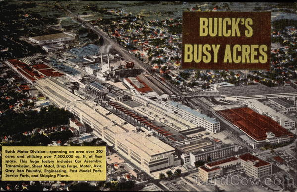Buick's Busy Acres Flint Michigan Cars