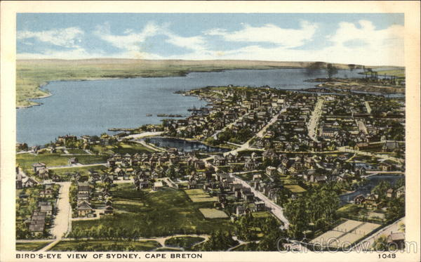Bird's-Eye View of Sydney Cape Breton Canada Nova Scotia